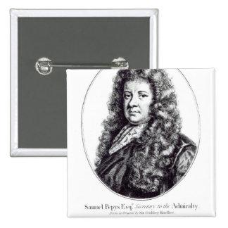 Samuel Pepys Chapa Cuadrada 5 Cm