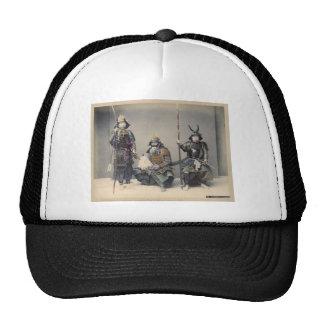 Samurai 3 en foto del vintage de la armadura gorra
