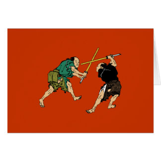 Samurai en duelo tarjeta