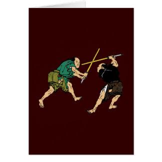 Samurai en duelo felicitacion