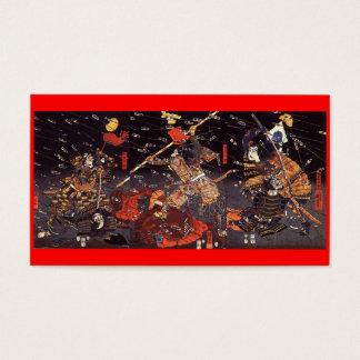 Samurai en la guerra, circa tarjeta de visita