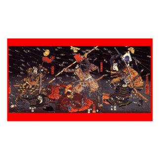 Samurai en la guerra, circa tarjeta de visita 1800