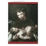 San Antonio de Padua que detiene al bebé Jesús