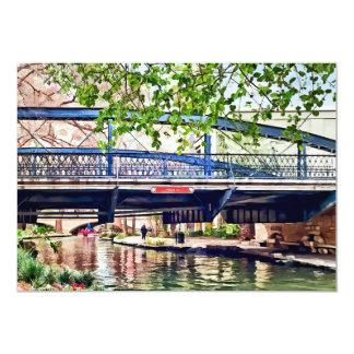 San Antonio TX - Puente en Paseo Del Río Invitación 12,7 X 17,8 Cm