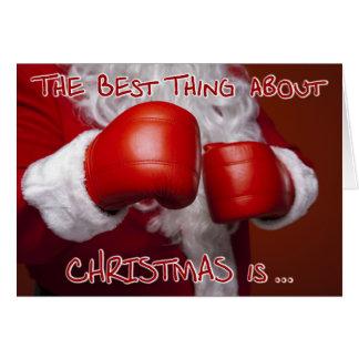 San Esteban divertido del humor de Navidad del Tarjeta