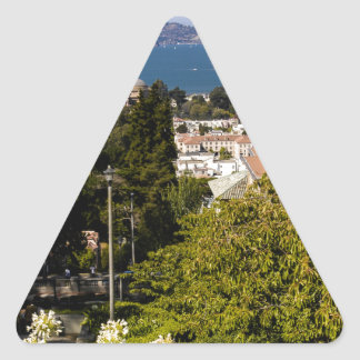 San Francisco Bay Pegatina Triangular