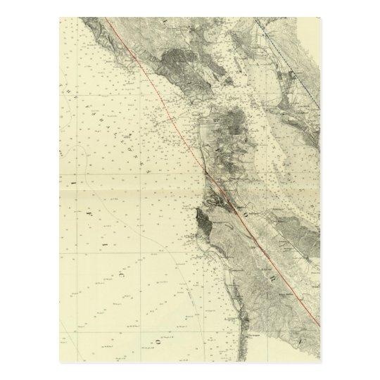 San Francisco Bay que muestra la grieta de San Postal