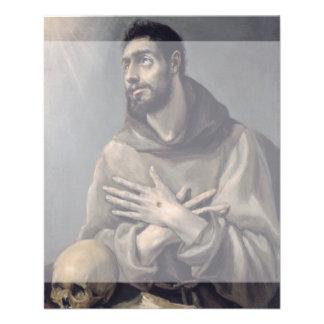 San Francisco de El Greco Tarjeta Publicitaria