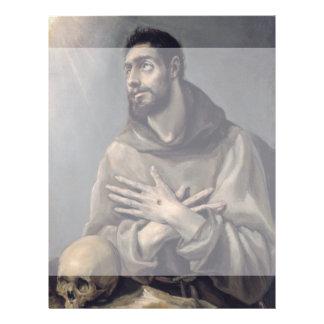 San Francisco de El Greco Tarjetón