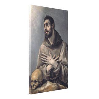 San Francisco de El Greco Impresión En Lienzo Estirada