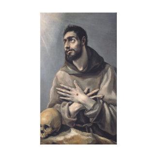 San Francisco de El Greco Impresiones De Lienzo