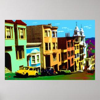 San Francisco Nob Hill 69 - impresión del arte pop