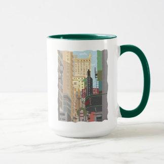 San Francisco-Powell y taza de café de O'Farrell