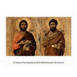 San Jaime el apóstol y el St Bartholomew por Postal