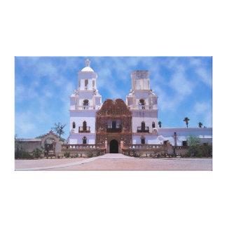 San Javier del Bac Mission - Tucson, AZ Impresion De Lienzo