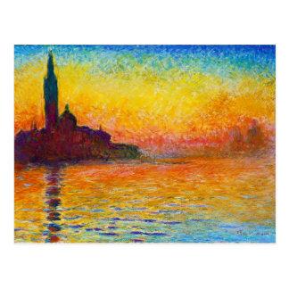 San Jorge Maggiore en la oscuridad Claude Monet Postal