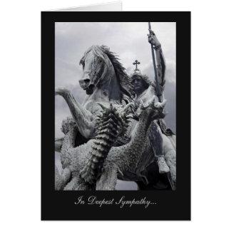 San Jorge y el dragón - en la condolencia más prof Tarjeta