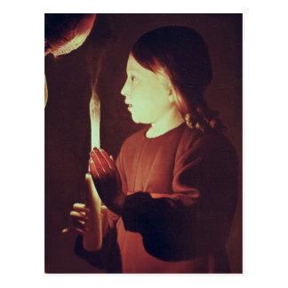 San José el carpintero, detalle del niño Postal