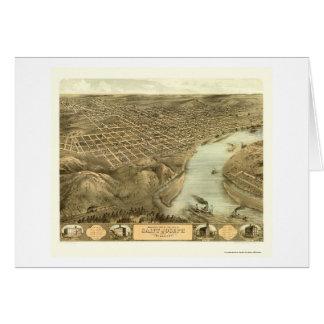 San José, mapa panorámico del MES - 1868 Tarjeta De Felicitación