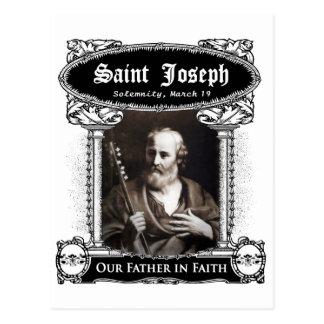 San José - nuestro padre en postal del