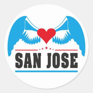 San Jose Pegatina Redonda