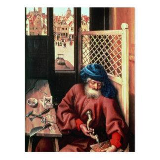 San José retrató como carpintero medieval Postal
