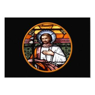 San José ruega para nosotros - el vitral Invitación 8,9 X 12,7 Cm