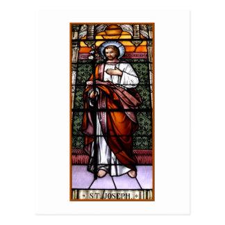 San José ruega para nosotros - el vitral Postal