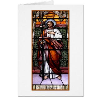 San José ruega para nosotros - el vitral Tarjeta De Felicitación