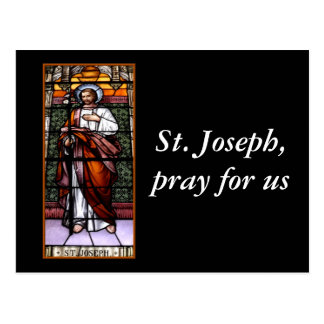 San José ruega para nosotros - el vitral Tarjeta Postal