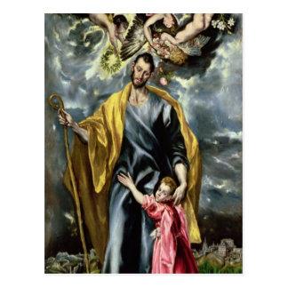 San José y el niño de Cristo, 1597-99 Postal
