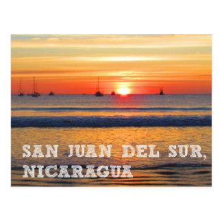 San Juan del Sur, postal de la puesta del sol de