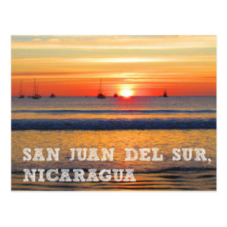 San Juan del Sur, postal de la puesta del sol de N