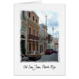 San Juan viejo, Puerto Rico Tarjeta De Felicitación
