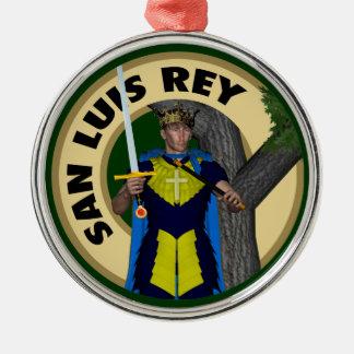 San Luis Rey de Francia Adorno Redondo Plateado
