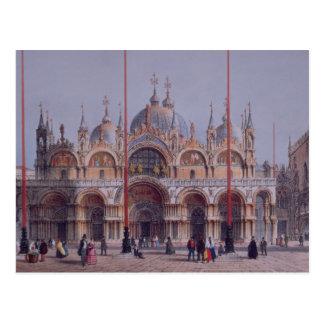 San Marco, Venecia, grabada por Brizeghel (litho) Postales