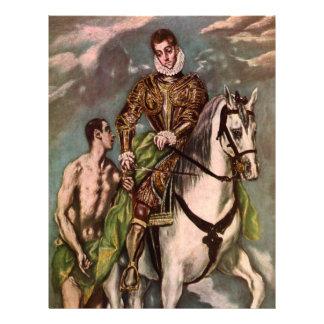 San Martín y el mendigo de El Greco, circa 1600 Tarjetones