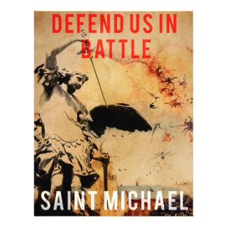 ¡San Miguel - defiéndanos en batalla! - Poster Flyer