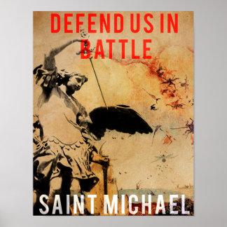 ¡San Miguel - defiéndanos en batalla! - Poster Póster