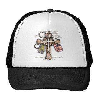 San Miguel el arcángel - proteja a nuestros soldad Gorras De Camionero