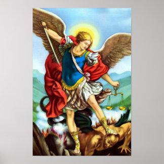San Miguel el santo del católico del ángel del Póster