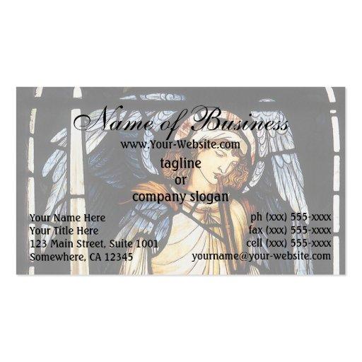 San Miguel (vitral) por Burne Jones Plantillas De Tarjeta De Negocio