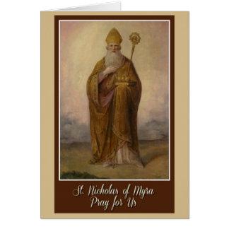 San Nicolás de obispo Priest Christmas de Myra Tarjeta De Felicitación
