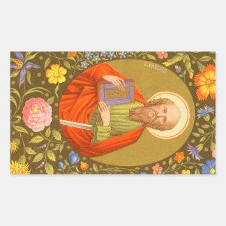 San Pablo el apóstol (P.M. 06) Pegatina Rectangular