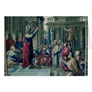 San Pablo que predica en el Areopagus Tarjeta De Felicitación