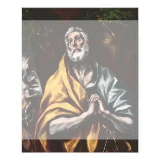 San Pedro arrepentido de El Greco Folleto 11,4 X 14,2 Cm