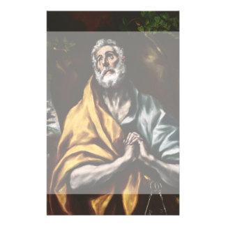San Pedro arrepentido de El Greco Folleto 14 X 21,6 Cm