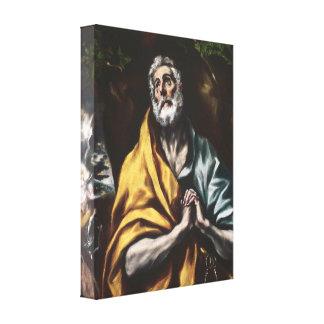 San Pedro arrepentido de El Greco Impresion En Lona