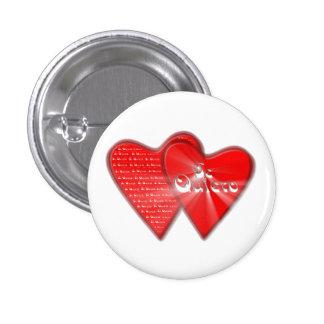 San Valentin es el dia de los enamorados Chapa Redonda De 2,5 Cm