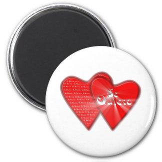 San Valentin es el dia de los enamorados Imán Redondo 5 Cm